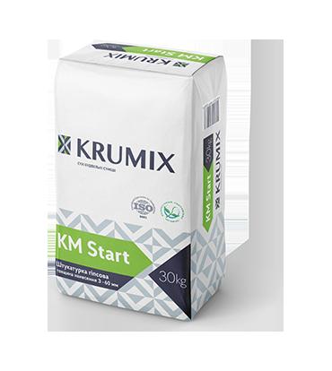 Штукатурка стартова гіпсова Krumix Km Start 30 кг
